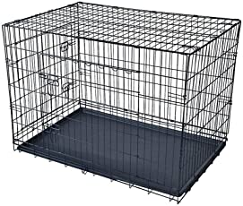 SRI Single Door Crate (Cage) for Dog and Cat with Removable Tray