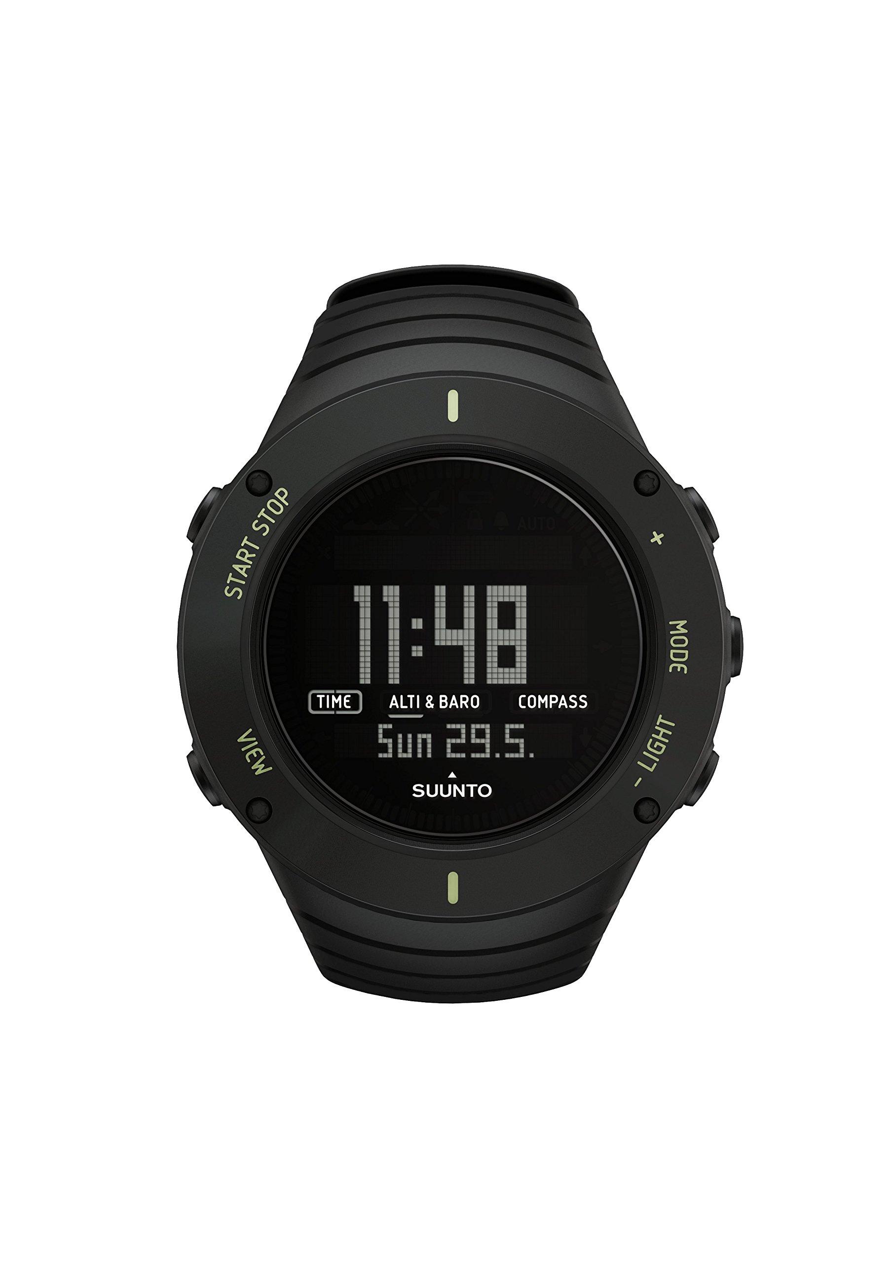 Suunto SS021371000 Core – Reloj de exterior para todas las altitudes, sumergible (30 m), con altímetro, barómetro, Negro (Ultimate Black)