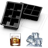 AcrossSea Eiswürfelform Silikon Großform - 2er Set, insgesamt 12 Riesen-Eiswürfel, große quadratische Eisformen mit…