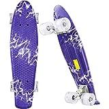 WeSkate Skateboard Bambino 22'' Penny Board con 4 LED Flash PU Ruote e ABEC-7&9 Cuscinetto Può Sopportare 100 KG Cruiser Prof