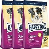3 x 10 kg Happy Dog Supreme Junior Original