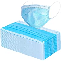 PATWAHOUSE Disposable Surgical Air Polution Face Mask 3Ply Non Woven,Elastic Ear-Loop Blue,Pack of 100 Piece