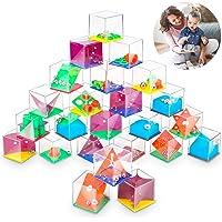 Mini Casse-Têtes Enfant 24Pcs,Casse Tete Enfant Labyrinthe 3D,Jeux de Patience Labyrinthe,Cube à Billes Jouets de…