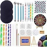 31PCS Mandala Dotting Outils Pinceaux Kit, Outil Pointage d'art d'Ongle Peinture pour Mandala sur Galet Pierre Pointillage Pi