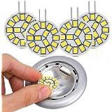 Kohree Ledlampen, G4, 2 W, 3000 K, komt overeen met halogeenlampen, 25 W, 12 V AC/DC, 220 lumen, natuurlijk wit, 4 stuks