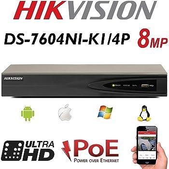 Hikvision DS-7604NI-E1/4P 4 Channel CCTV HDMI VGA PoE: Amazon co uk