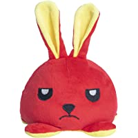 Shintan Toys Reversible Bunny Plushie Stuffed Animal Toy - 5 inch (Red & Lemon Yellow)
