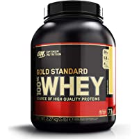 Optimum Nutrition Gold Standard Whey Muscle Building and Recovery Protein Powder With Glutamine and Amino Acids, Banana Cream, 73 Servings, 2.27 kg, Packaging May Vary