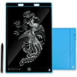 Honey Peach Portable LCD Writing Tablet 12 inches Paperless Memo Digital Tablet Pad for Writing/Drawing (Blue)