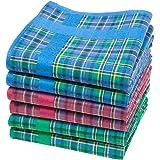 "Merrysquare - Tartan Handkerchiefs - Glencoe Design - Large Size 16""x16"" - 6 units"