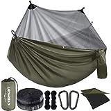 Overmont Dubbla lager campinghängmatta tysk TUV-certifierad bärbar utomhushängmatta lätt för backpacking vandring sport resor