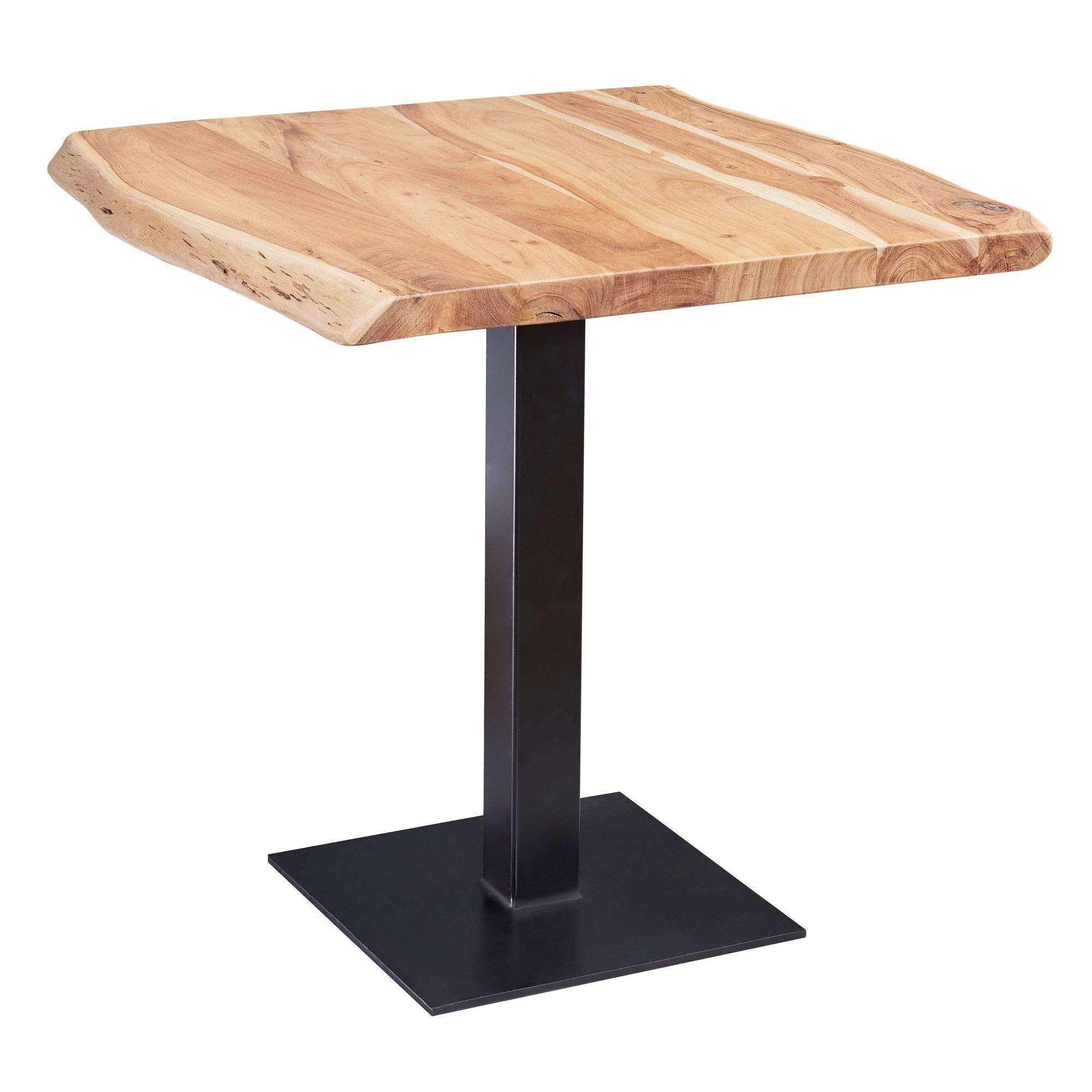 FineBuy Esstisch Baumkante 80 x 75 x 75 cm Akazie Massivholz Esszimmertisch   Kleiner Holztisch Esszimmer   Designer Küchentisch Quadratisch 1