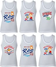 BODYCARE Cartoon Printed Boys Vest Pack of 6 from