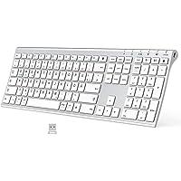 Bluetooth Tastatur - Kabellose Tastatur Wieder aufladbare, Bluetooth+Bluetooth + 2,4 G 3 Kanäle Tastatur, ultraflache…