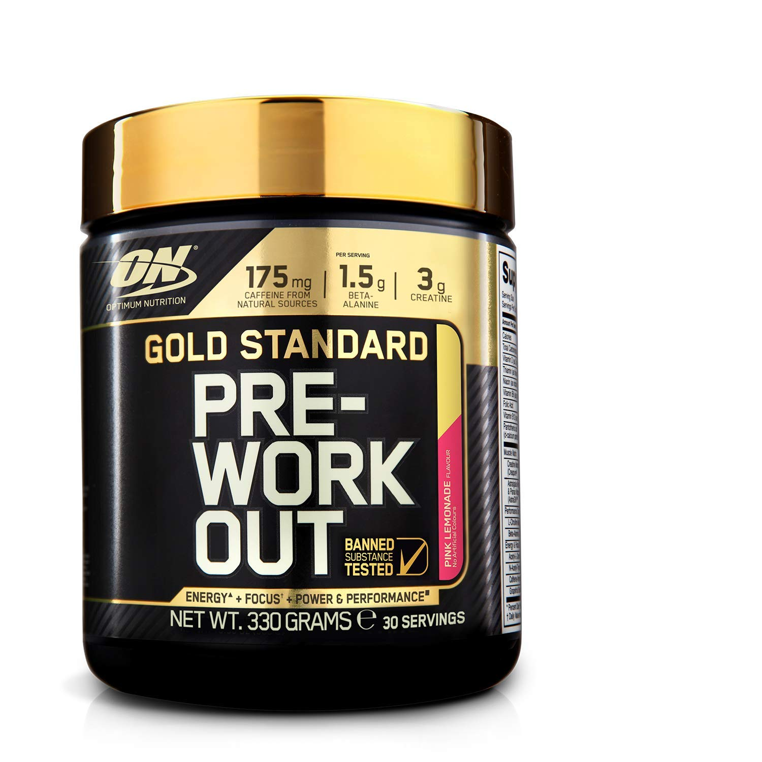 Optimum Nutrition ON Gold Standard Pre Workout en Polvo con Creatina Monohidrato