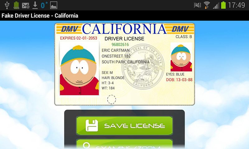 fake driving license generator uk