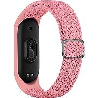 BoLuo Bracelet Compatible avec Xiaomi Mi Band 6,Nylon Braided Stretch Solo Loop Bracelets Montre,Silicone Bande Sport…
