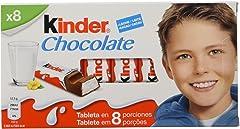 Kinder Chocolate Barritas de Chocolate con Leche, Pack de 8 x 12.5g
