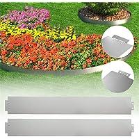 AufuN Bordure de pelouse en métal galvanisé - 5 m x 15 cm - Bordure de pelouse - 5 pièces - 100 cm x 15 cm (L x H…