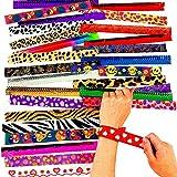 German Trendseller® - 8 x bracelets à claquer┃mélange de couleurs┃l'anniversaire d'enfant┃petit cadeau┃pochettes surprises