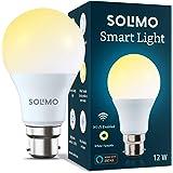 Amazon Brand - Solimo Wi-Fi Smart Light, 12W, B22 Holder, Alexa Enabled (Yellow/Light Yellow/White)