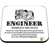 CS374 Defination Engineer Novelty Funny Coffee Tea Drink Gift Glossy MDF Wooden Coaster