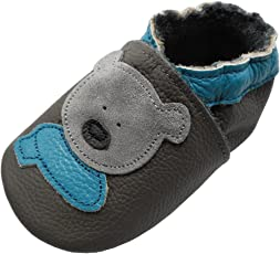 YIHAKIDS Weiche Krabbelschuhe Babyschuhe Lauflernschuhe Kleinkind Lederschuhe Hausschuhe Lernlaufschuhe