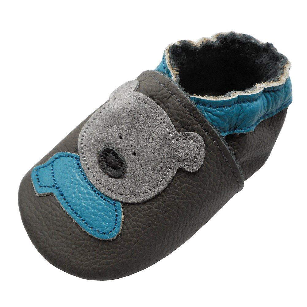 nouvelle arrivee 4bec8 f851c YIHAKIDS Bébé Filles Garçons Chaussures Cuir Souple Enfant Chaussons Cuir  Doux Chaussures Premiers Pas - Chaussures et Sacs