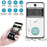 Teepao Video Türsprechanlage, WLAN Türklingel mit Kamera, 720p HD Wasserdicht Video Gegensprechanlage mit Echtzeit-Video, Nachtsicht, PIR-Bewegungserkennung und App-Steuerung für iOS Android
