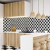 Tegelstickers, zelfklevend, cementtegels, wanddecoratie, wandstickers, tegelstickers, voor badkamer en keuken, 10 x 10 cm, 30