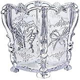 Drawihi Jolie boîte transparente en acrylique pour ustensiles de maquillage, rangement de produits cosmétiques