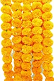 Mohit Rakhi Artificial Genda or Marigold Flowers Garland for Decoration: (Pack of 5)