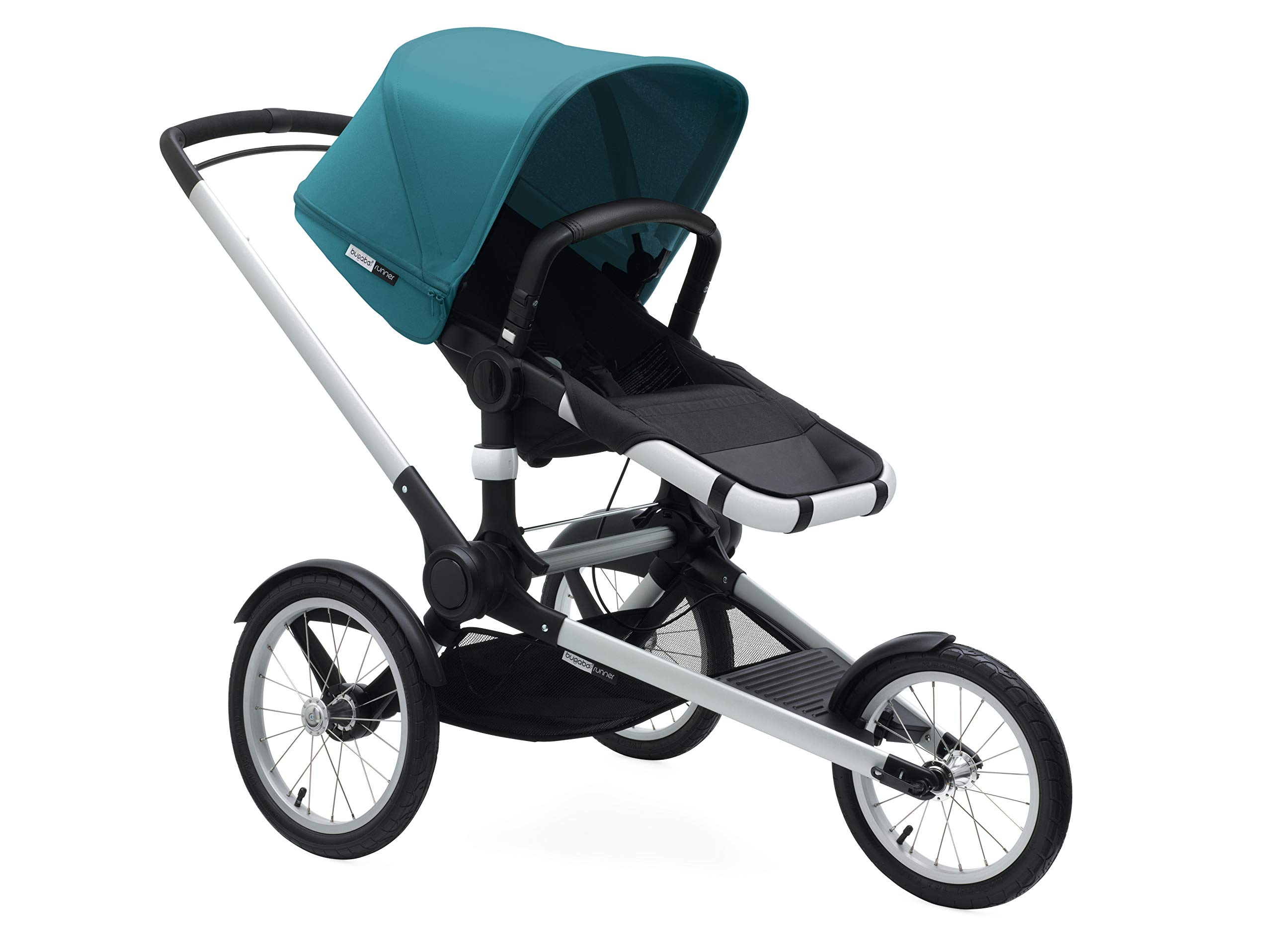 Bugaboo Runner Complete Pushchair, Black/Petrol Blue  Bugaboo