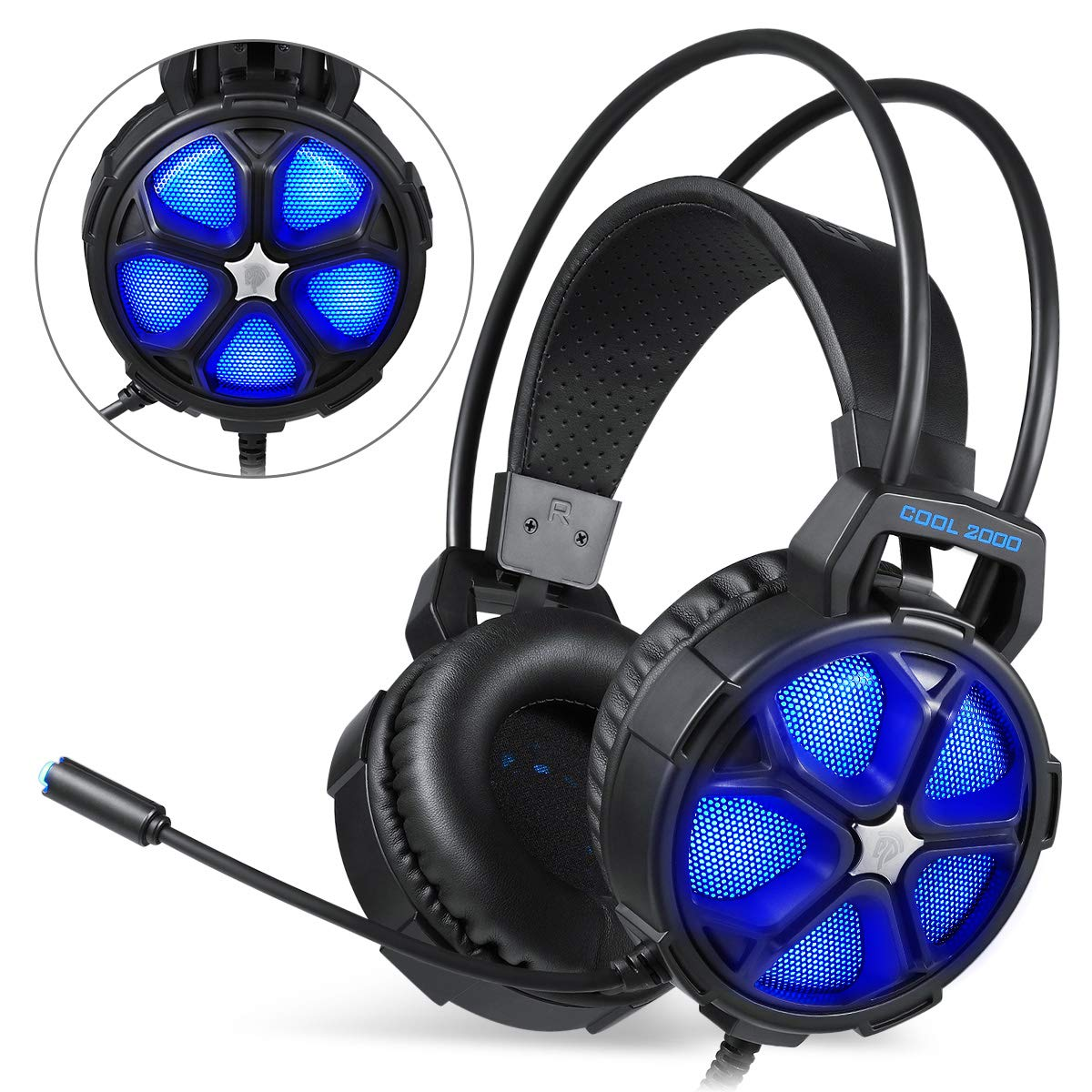 EasySMX Gaming Headset, Auriculares EST?REO Gaming Cascos Auriculares Gaming con MICR?Fono