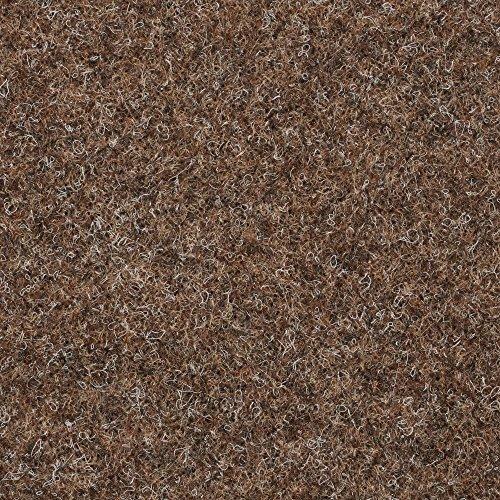 BODENMEISTER BM73501 Teppichboden Nadelfilz Nadelvlies Meterware Objekt braun beige 200 cm und 400 cm breit, verschiedene Längen, Variante: 12 x 2 m