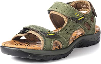 gracosy Mens Sandals Summer Shoes Open Toe Walking Flat Sandals Shoes Lightweight Non-Slip Hiking Trekking Hook Loop Straps Beach Shoes Cushioned Fisherman Athletic Outdoor Sport Wide Fit Sandals 6-11