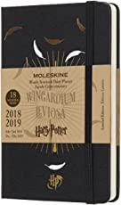 Moleskine DHP18WN2Y19 Wochen Notizkalender, Taschenkalender, Harry Potter, 18 Monate, 2018/2019, Pocket, A6, Hard Cover, Schwarz