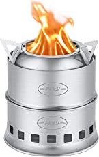 CO-Z Holzofen Camping Campingkocher Camping Kocher Outdoor Ofen Camping Stove Wood Stove Backpacking Stove Edelstahl Tragbar für Backpacker Wandern Camping Jagd Klettern Picknick
