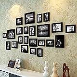 Art Street Large Collage Photo Frame Set of 23 Individual Black Picture Frame Set (Multiple Sizes)