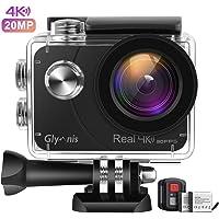 Glymnis Action Cam Echte 4K 20MP Sport Action Kamera Touchscreen EIS Actioncam 40M Wasserdicht Unterwasserkamera WiFi…