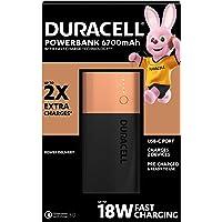 Duracell Power Bank - 6700 mAh, Caricatore Portatile con USB C e Ricarica Rapida in/out (Power Delivery 18 W e Quick…