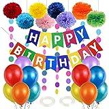 Globos de Cumpleaños, Decoracion Cumpleaños Infantil, Guirnalda Feliz Cumpleaños, Adornos Cumpleaños, Globos de Fiesta de Div