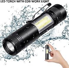Think3 Best Sale LED Waterproof Mini LED Torch Flashlight , Hot Mini Handy ,Black
