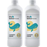 The Better Home Laundry Liquid Pack of 2 (500 ml Each) | Eco-Friendly, Non-Toxic | Baby safe & Pet Safe | Skin Friendly