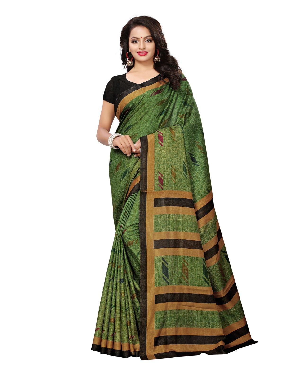Kanchnar Women's Green Art Silk Saree – 782S204