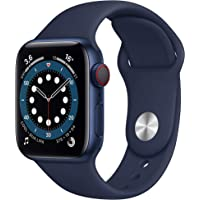 Apple Watch Series 6 (GPS + Cellular, 40 mm) Aluminiumgehäuse Blau, Sportarmband Dunkelmarine