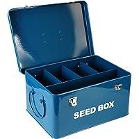 simpa Vintage Style Seed Packet Storage Box - Robust Coated Metal Steel Gardening Greehouse Pollinators Seed Packet Storage Utility Tin