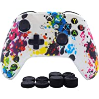 Hikfly Silicone Controller Cover Skin Protector Case Faceplates Kits for Xbox One/Xbox One S/Xbox One X Controller Video…