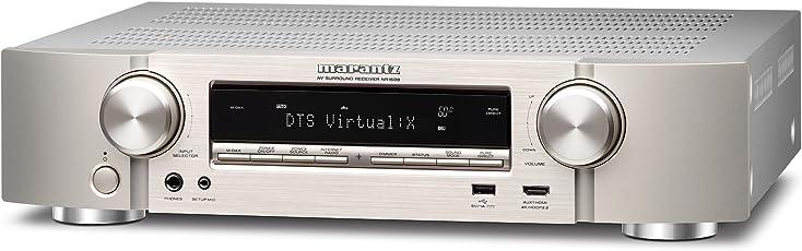 Marantz NR1608/N1SG Kompakter (7.2-Kanal Full 4K Ultra HD Netzwerk-AV-Receiver mit HEOS) silber/gold