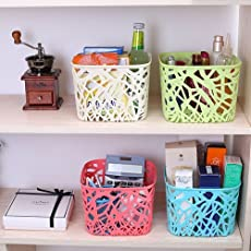 Almand Plastic Compact Basket for Office, Kitchen, Home, Bathroom and Multiple use